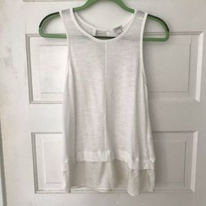 J.Crew Sleeveless White Blouse